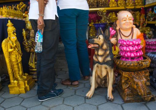 Dog Statue Sold In The Thaipusam Religious Festival In Batu Caves, Southeast Asia, Kuala Lumpur, Malaysia