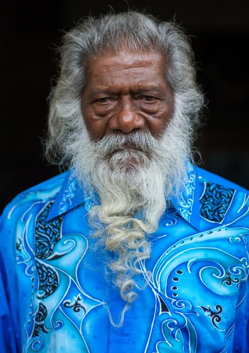 Portrait Of A Guru In Batu Caves During Annual Thaipusam Religious Festival, Southeast Asia, Kuala Lumpur, Malaysia