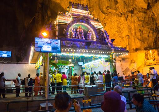 Hindu Devotee In Annual Thaipusam Religious Festival In Batu Caves, Southeast Asia, Kuala Lumpur, Malaysia