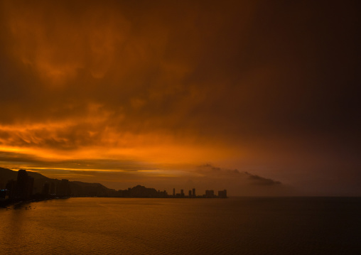 View Of The City At Sunset, Penang Island, George Town, Malaysia