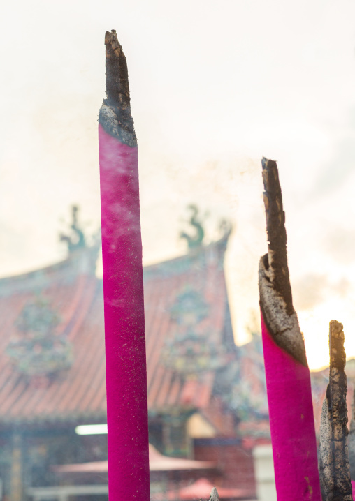 Giant Incense Sticks In A Temple, Penang Island, George Town, Malaysia