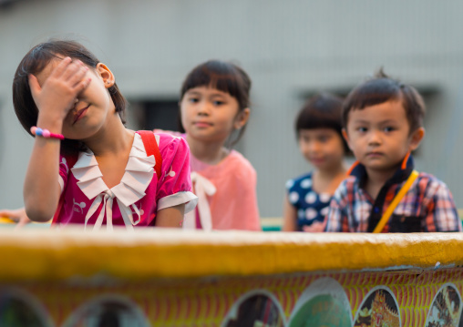 Children Living On Weld Clan Quay Piers, Penang Island, George Town, Malaysia