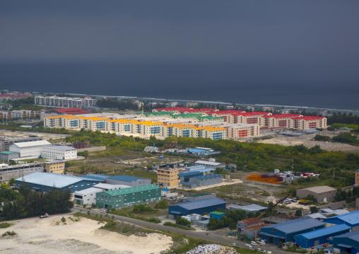 New Buildings In Male, Maldives