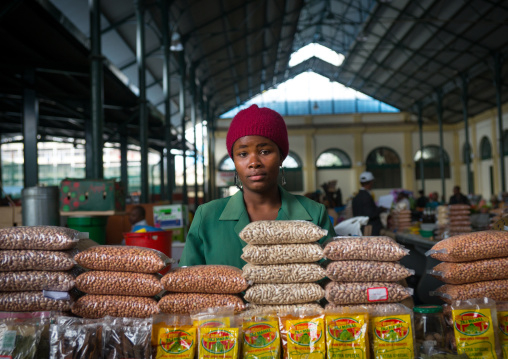 Seller In Mercado Central, Maputo, Mozambique