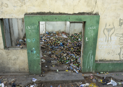 Used Bottles Inside Vila Algarve, Maputo, Mozambique