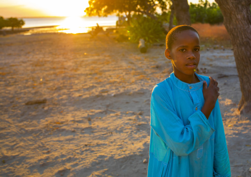 Kid In The Sunset, Island Of Mozambique, Mozambique