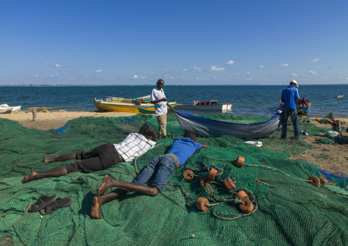 Fishermen On The Beach, Island Of Mozambique, Mozambique