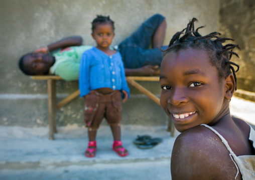 Smiling Young Girl, Island Of Mozambique, Mozambique