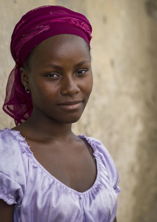 Beautiful Young Woman, Island Of Mozambique, Nampula Province, Mozambique