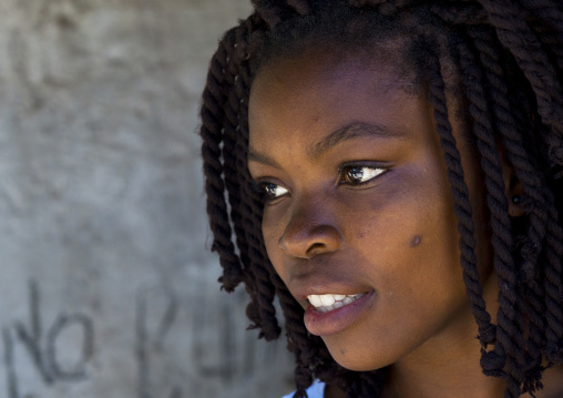 Beautiful Young Woman, Island Of Mozambique, Mozambique