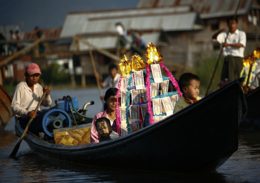 Novice ceremony in inle lake, Myanmar