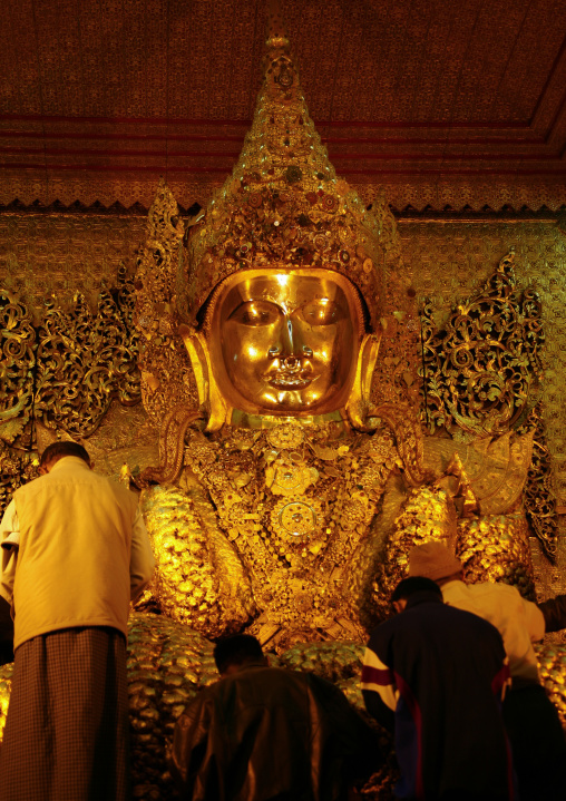 Golden Buddha In Kyauktawgyi Paya, Mandalay, Myanmar