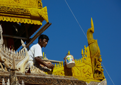 Temple Renovation In Bagan, Myanmar
