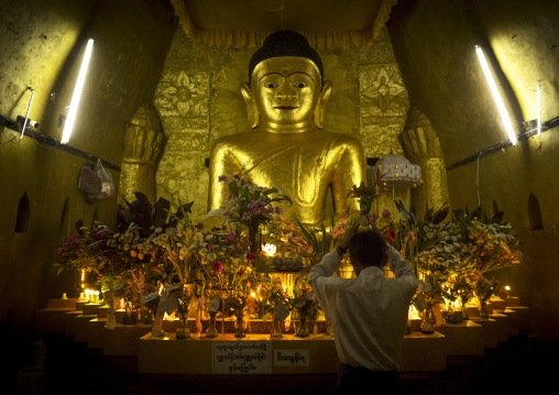 Golden Buddha In A Temple, Mrauk U, Myanmar