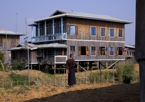 Typical house on stilts, Inle lake, Myanmar
