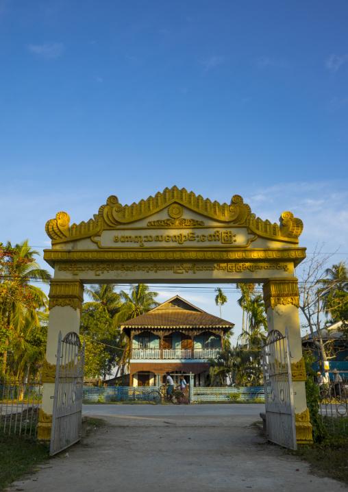 Monastery Entrance, Sittwe, Myanmar