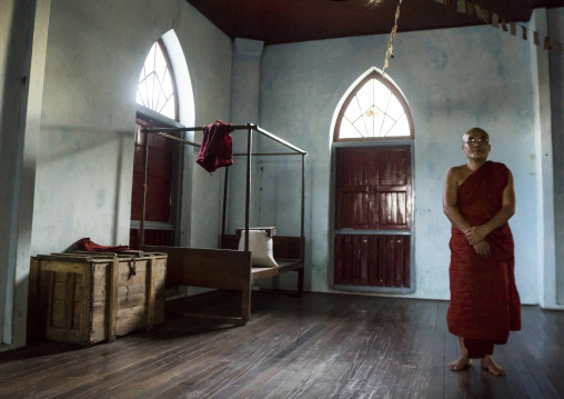 Monastery Monk Room, Sittwe, Myanmar