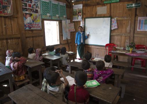 Chin Children In A Classroom, Mindat, Myanamar