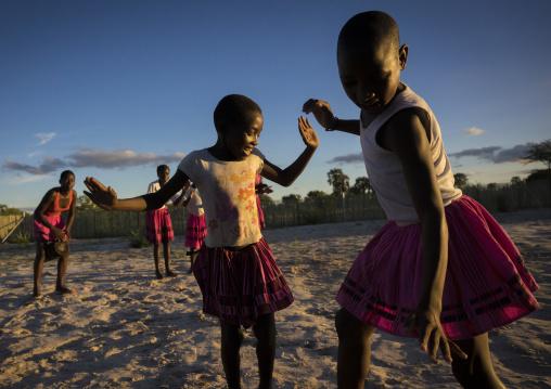 Ovambo Girls Dancing, Ongula, Namibia