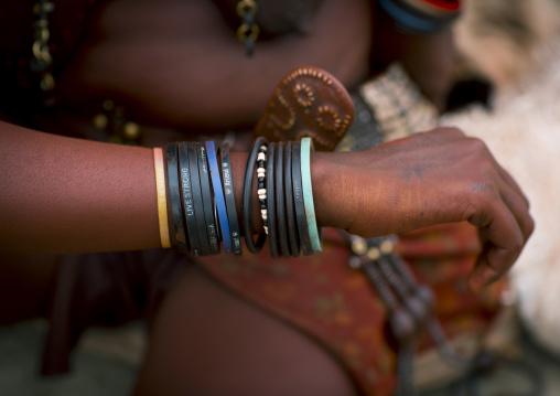 Himba Woman Bracelets, Epupa, Namibia