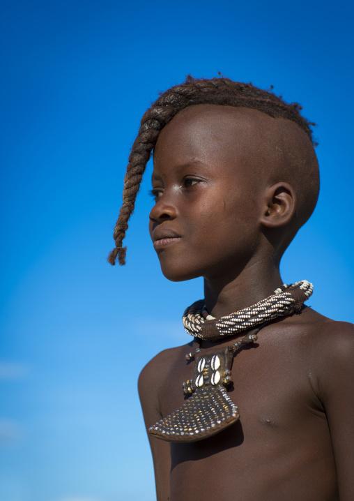 Young Himba Twin Girl With Ethnic Hairstyle, Epupa, Namibia