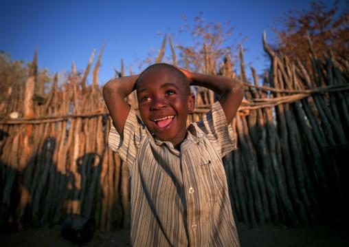 Ovambo Boy Smiling, Ruacana Area, Namibia