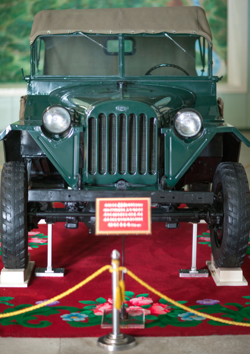 Kim il-sung's jeep in the victorious fatherland liberation war museum, Pyongan Province, Pyongyang, North Korea