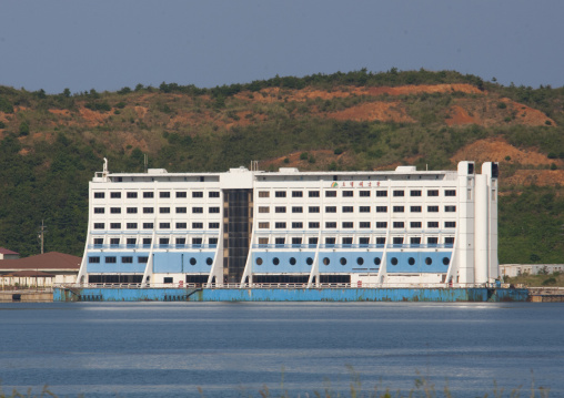 Floating hotel that was a former meeting point between families from the North and south, Kangwon-do, Haegeumgang, North Korea