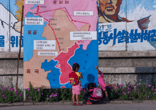 Map of last Kim Jong il trips in train, North Hamgyong Province, Chilbo Sea, North Korea