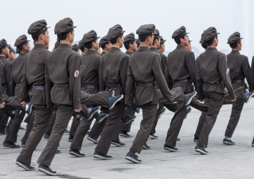 North Korean army parade on Kim il Sung square, Pyongan Province, Pyongyang, North Korea