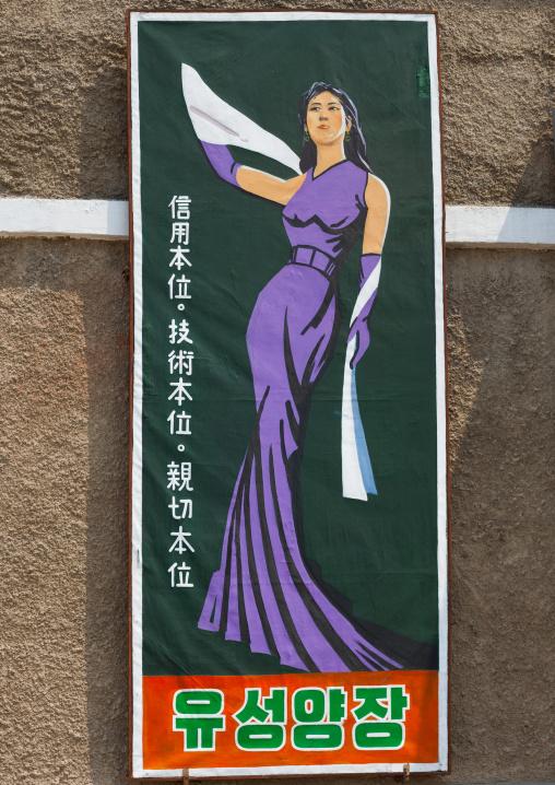 Fake advertisement poster in Pyongyang film studio, Pyongan Province, Pyongyang, North Korea