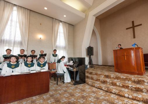 Chilgol protestant church, Pyongan Province, Pyongyang, North Korea