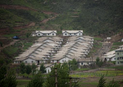 Village in the countryside, Pyongan Province, Myohyang-san, North Korea