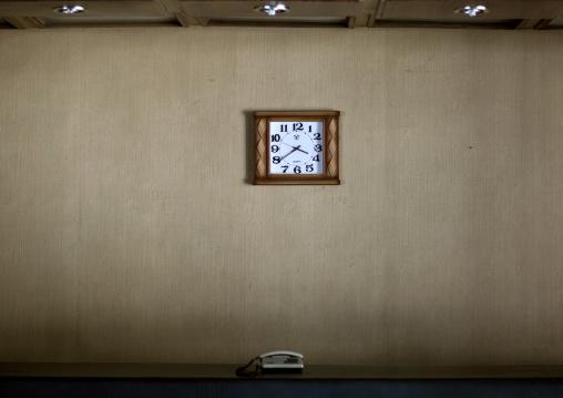 Dongmyong hotel reception clock, Kangwon Province, Wonsan, North Korea