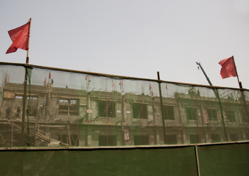 Construction of a new restaurant, Pyongan Province, Pyongyang, North Korea