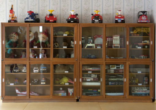 Toy cupboard in Kwangbok school, Pyongan Province, Pyongyang, North Korea