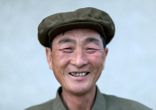 Portrait of a North Korean village leader, North Hamgyong Province, Jung Pyong Ri, North Korea