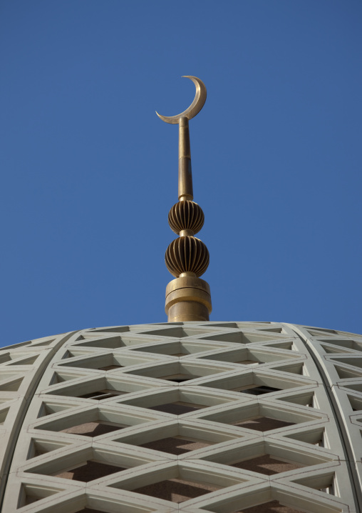The Moon Symbol On The Top Of Sultan Qaboos Grand Mosque, Muscat, Oman