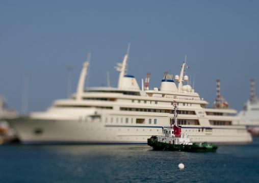 Ships In Muscat Port, Oman