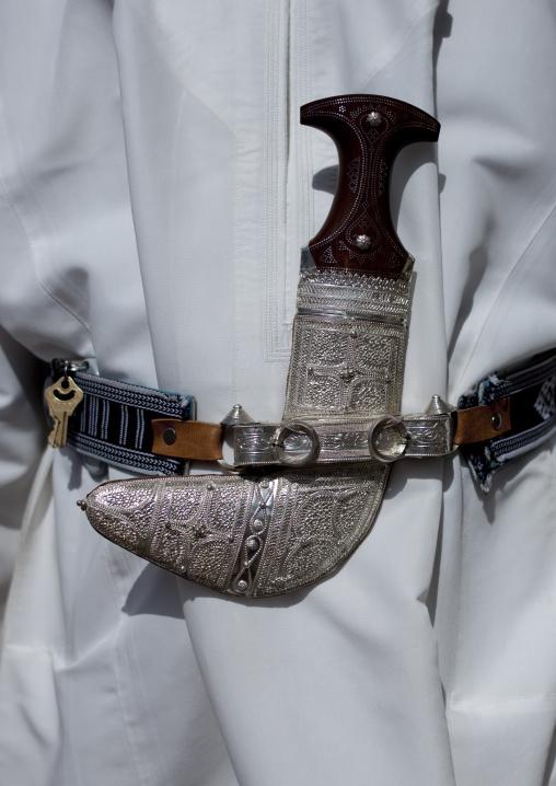 Khanjar, Traditionnal Knife Worn By Omani Men With Silver Sheath, Muscat Oman