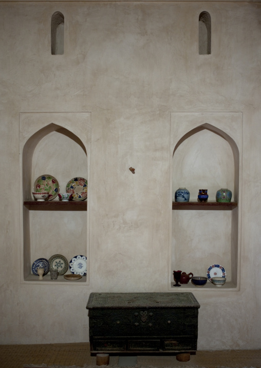 Niches With Decoration Of Plates In A Tradtional House, Sur, Oman