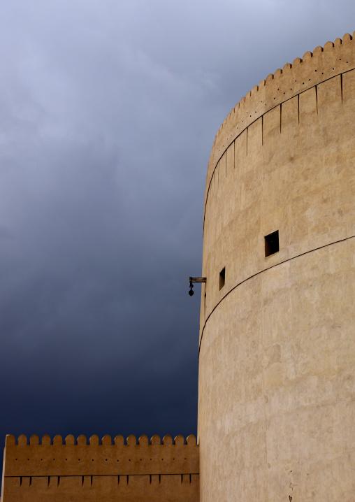 Tower Of Nizwa Castle Under The Blue Sky, Oman