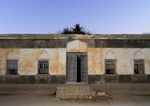 Old Abadoned House With Wooden Windows And Doors, Salalah, Oman