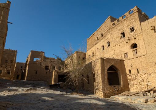 Old abandoned house in a village, Ad Dakhiliyah Region, Al Hamra, Oman