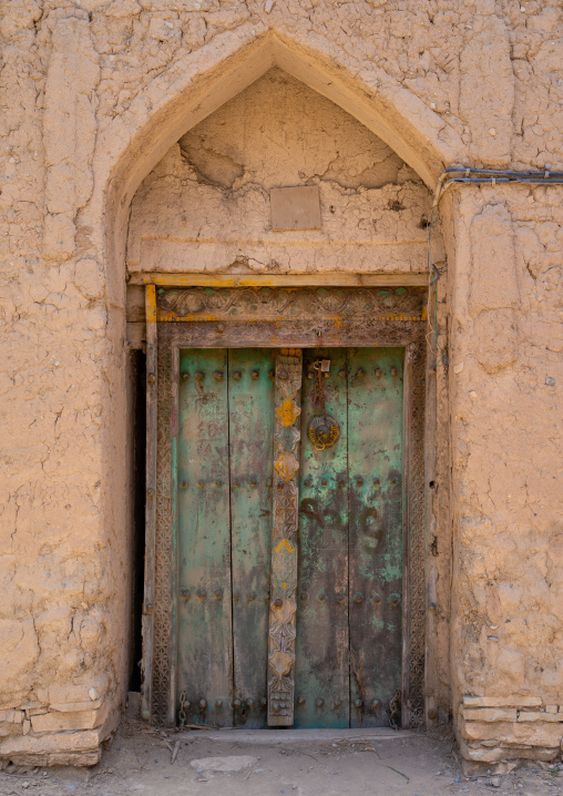 Omani carved wooden door, Ad Dakhiliyah Governorate, Birkat Al Mouz, Oman