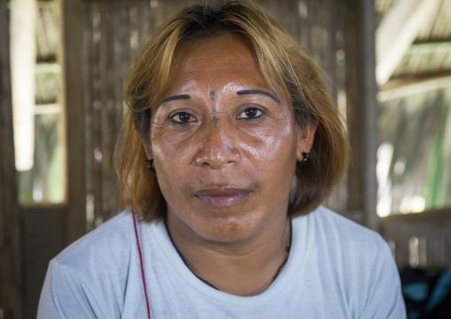 Panama, San Blas Islands, Mamitupu, Gay Kuna Indigenous Man