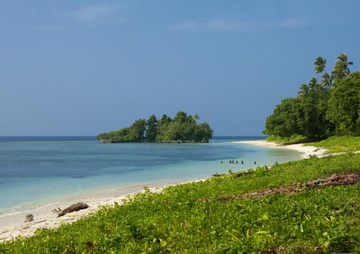 Beautiful deserted kaibola beach, Milne Bay Province, Trobriand Island, Papua New Guinea