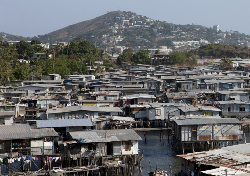 Floating village, National Capital District, Port Moresby, Papua New Guinea