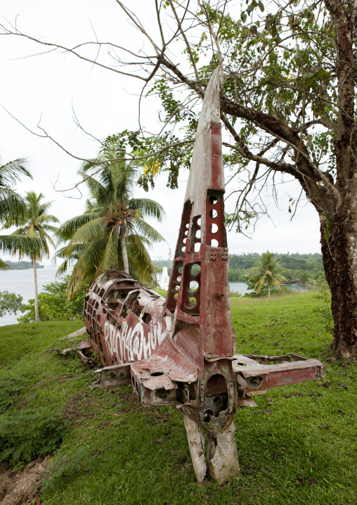 Plane wreck from the world war two, Autonomous Region of Bougainville, Bougainville, Papua New Guinea