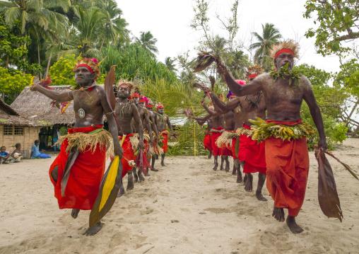Paplieng tribe men dancing, New Ireland Province, Kavieng, Papua New Guinea